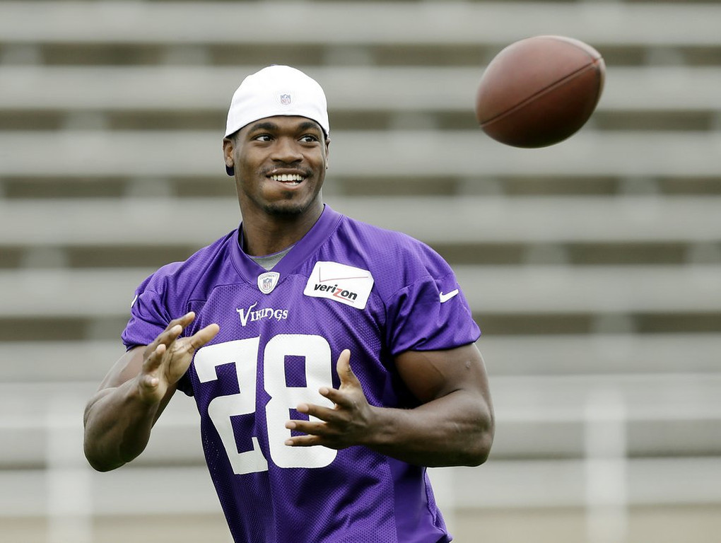 """. <p><b><a href=\'http://www.twincities.com/vikings/ci_23766147/sanseveres-huddle-is-adrian-peterson-an-egomaniac\' target=\""""_blank\""""> Vikings MVP Adrian Peterson made headlines last week when he predicted he would break this record in 2017 � </a></b> <p> <b>A. Emmitt Smith�s record for most career rushing yards </b> <p><b> B. Eric Dickerson�s record for most rushing yards in a season </b> <p> <b>C. Herschel Walker�s record for most third-person references to himself </b> <p> --------------------------------------------    (AP Photo/Charlie Neibergall)"""