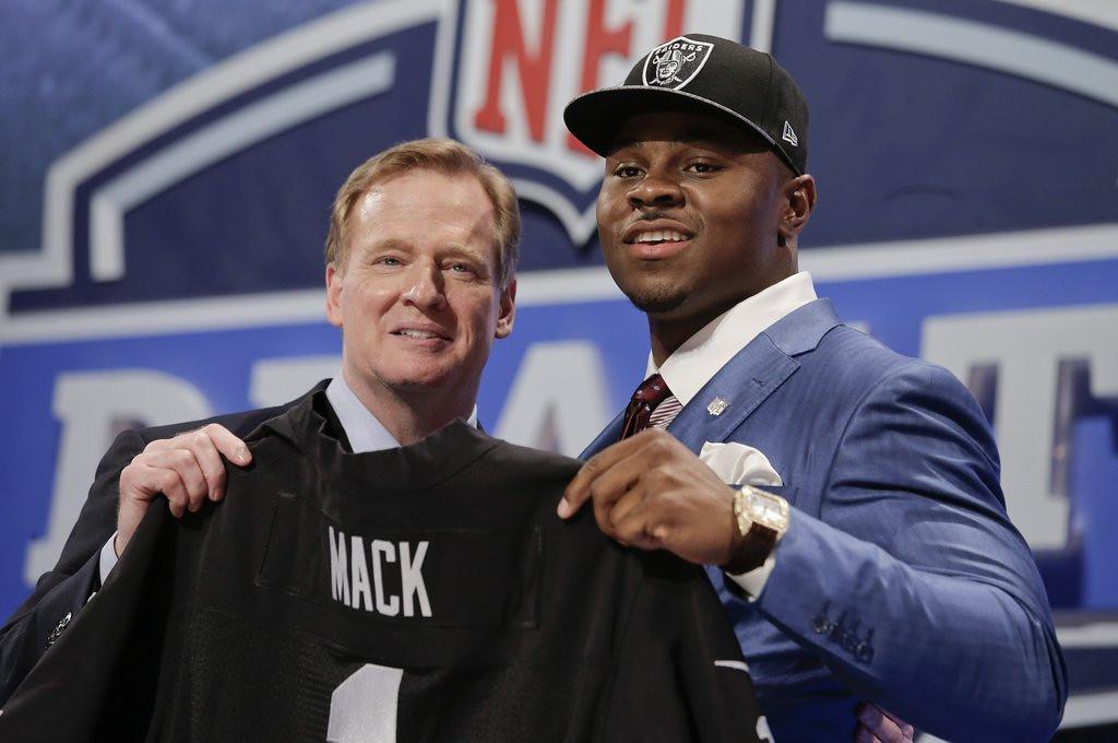 . <b>17. KHALIL MACK </b> <p>Buffalo linebacker taken by Raiders, somehow landing in only NFL city rattier than Buffalo. <p>    (AP Photo/Craig Ruttle)