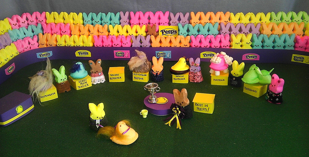 """. \""""Westminster Peeps Show: Best in Peeps,\"""" by Alison O\'Connor, Windsor, Colo."""