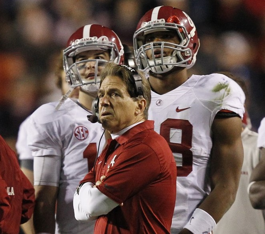 ". <p>1. ALABAMA CRIMSON TIDE <p> Who in their right mind calls for a 57-yard field goal from a kicker who has made ONE field goal in his career? That�s right ... nobody. (unranked) <p><b><a href=\'http://www.twincities.com/sports/ci_24633078/iron-bowl-alabama-auburn-thriller-will-take-while\' target=""_blank\""> HUH?</a></b> <p>    (AP Photo/Butch Dill)  <p>OTHERS RECEIVING VOTES <p> Alec Baldwin, Wisconsin Badgers, Yoko Ono, Jameis Winston, Silvio Berlusconi, Miley Cyrus, Frankie Munoz, Trent Richardson, Lindsey Vonn�s knee, George Zimmerman, Prince William, New York Times� front-page nipple, UPS, Brad Sattin & Patrick Hammer, crabs, Justin Bieber, Richard Pitino, Derrick Williams, Samantha Ponder, Bully the Bulldog. <p> <br><p> Kevin Cusick talks fantasy football, and whatever else comes up, with Bob Sansevere and �The Superstar� Mike Morris on Thursdays on Sports Radio 105 The Ticket. Follow him at <a href=\'http://twitter.com/theloopnow\'>twitter.com/theloopnow</a>."