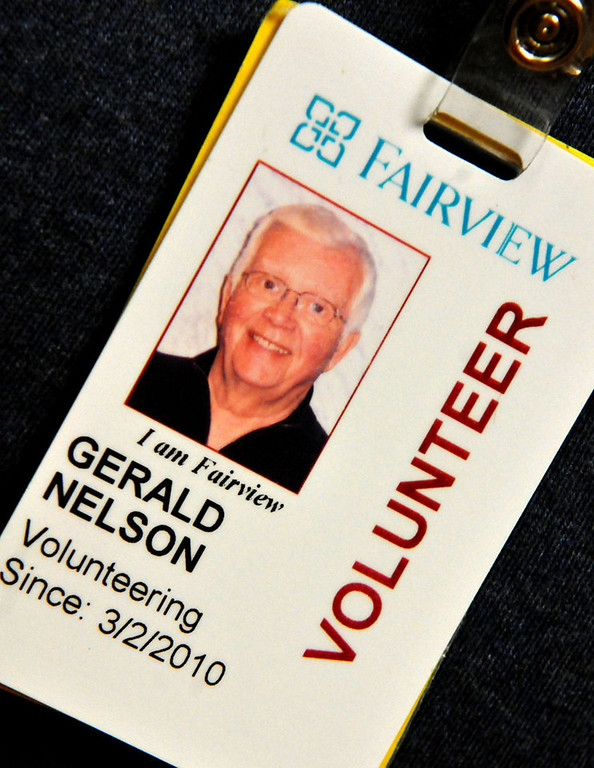 . Hospital ID for volunteer Jerry Nelson. (Pioneer Press: John Doman)