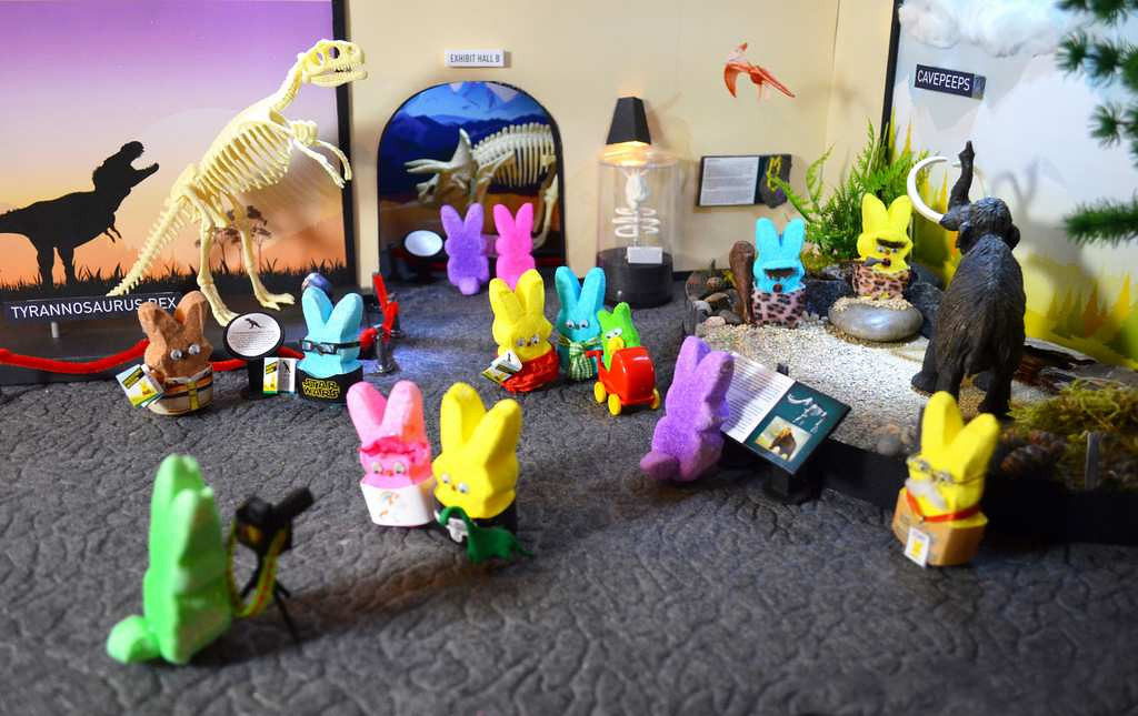". ""Prehistoric Peeps Museum,\"" by Cathleen Rose of Roseville"