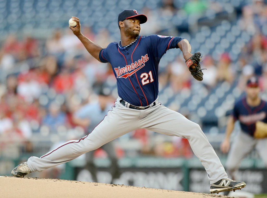 . Minnesota Twins starting pitcher Samuel Deduno (21) delivers against the Washington Nationals in the first inning. (Chuck Myers/MCT)