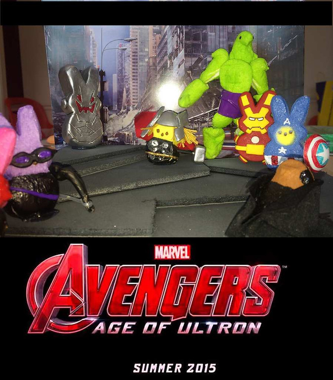 ". ""Peeps Avengers,\"" by Michael Sharp"