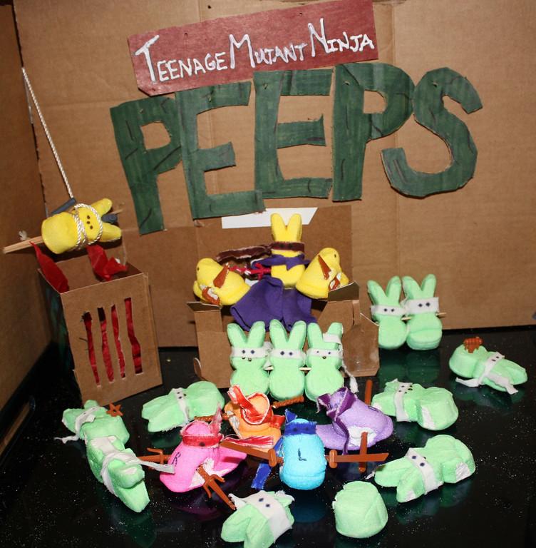 """. \""""Teenage Mutant Ninja Peeps,\"""" by Alli Faricy, Pine River, Minn."""