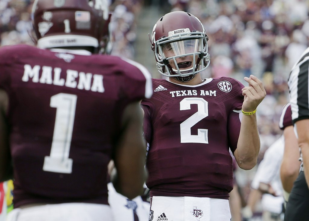 """. <p>6. (tie) JOHNNY MANZIEL <p>His parents taught him to always act like a polite gentleman. And he told them to get bent. (3) <p><b><a href=\'http://www.twincities.com/sports/ci_23991196/johnny-manziel-taunts-touchdowns-mark-return-from-suspension\' target=\""""_blank\""""> HUH?</a></b> <p>    (AP Photo/Eric Gay)"""