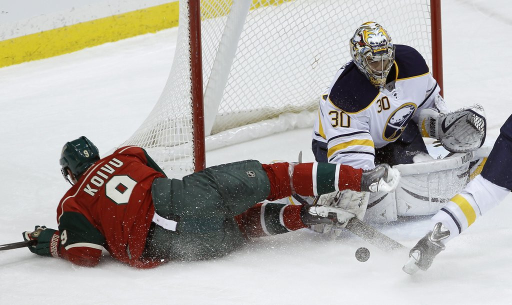 ". <p>4. MIKKO KOIVU <p>If you think the Wild suck now, just wait for the next month without their leading scorer. (unranked) <p><b><a href=\'http://www.twincities.com/sports/ci_24853868/minnesota-wild-put-mikko-koivu-josh-harding-injured\' target=""_blank\""> HUH?</a></b> <p>    (AP Photo/Ann Heisenfelt)"