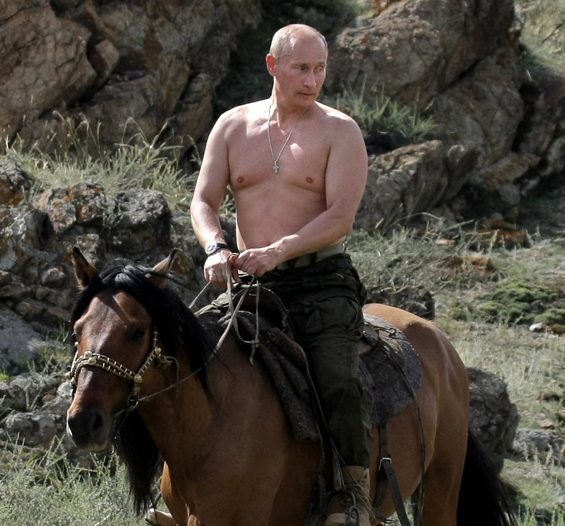 ". <p><b> Russian President Vladimir Putin dismissed the Internet as a �CIA project� and warned Russians that they should stop � </b> <p> A. Using Google searches <p> B. Downloading illegal music <p> C. Photoshopping his head onto topless women <p><b><a href=\'http://abcnews.go.com/International/wireStory/russias-putin-calls-internet-cia-project-23452488\' target=""_blank\""> LINK </a></b> <p>   (Alexsey Druginyn/AFP/Getty Images)"