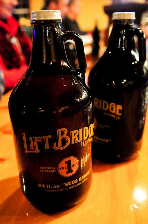 . Like what you\'re drinking at Lift Bridge? Take home a growler of it. (Pioneer Press: Ben Garvin)