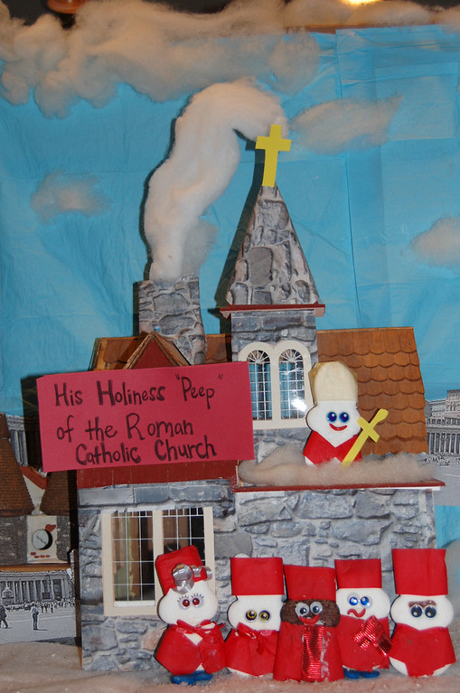 """. \""""His Holiness Peep,\"""" by Travis Isakson, Red Wing"""