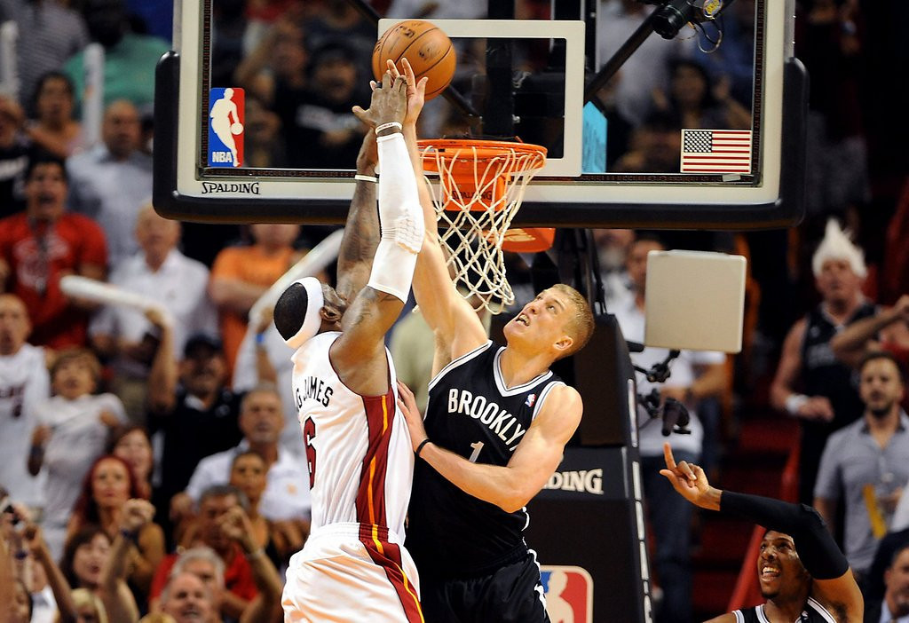 """. <p>9. MIAMI HEAT <p>The best part of game-ending rejections is the whining that follows. (unranked) <p><b><a href=\'http://ftw.usatoday.com/2014/04/mason-plumlee-lebron-james-miami-heat-brooklyn-nets-win/\' target=\""""_blank\""""> HUH?</a></b> <p>   (Robert Duyos/Sun Sentinel/MCT)"""
