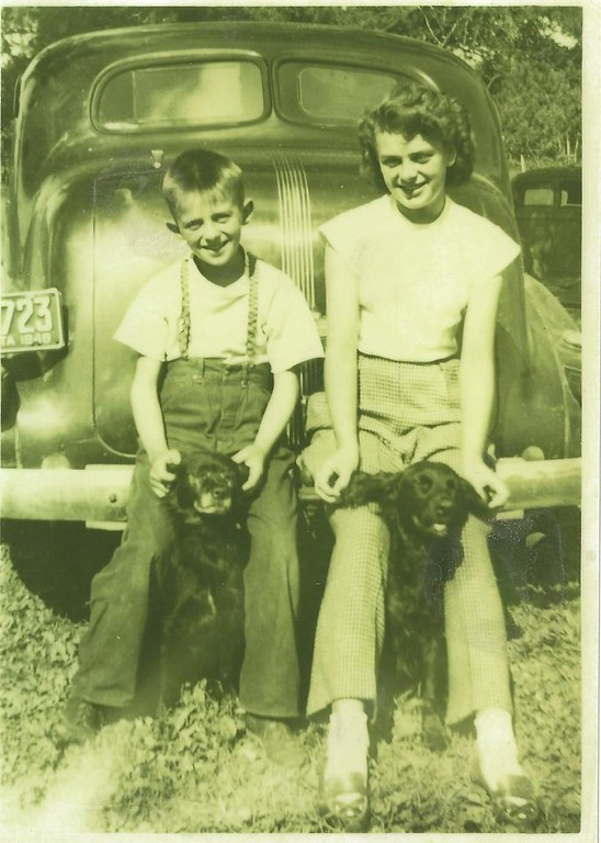 . The little treasures Writes REBECCA (HAWKINS) FRAENKEL: �This is a photo of my mom, Joan (Hjermstad) Hawkins Blom, age 14, and her brother, Tom Hjermstad, age 10, in 1948, between Park Rapids and Itasca State Park, on Highway 71, where my grandpa and grandma had a Mobil gas-station business called \'Strawberry Hill� (because they had a strawberry farm � and also sold eggs). They were leaning on a 1937 Pontiac Sedan and were petting their dogs, Toby and Tiny.    �My mom is so cool; she will be turning 80 on October 20th, and she will be so thrilled if she sees this in your paper! She\'s an avid reader and doesn\'t miss a day of your paper.    �She\'s somewhat new to the Metro, having lived most of her years up north � born and raised in Park Rapids, then living in Hibbing and Grand Rapids to raise (along with our stepdad, John) my sister, Deb (Hawkins) Roebuck, and me after our dad, Lyle, died in 1966.   �She was quite the role model back in the day: owning the Bridgeman\'s store in Grand Rapids for several years and, at the same time, supervising many of the northern Bridgeman\'s stores. It\'s amazing to hear her tell the stories of driving in snowstorms to get to Ely, International Falls, Bemidji, Floodwood, Virginia (and probably other places) to make her routine visits � and mind you, this was before cellphones (way before!).    �She was a tough boss. My sister and I, along with many others, will tell you we had to stay until those stainless-steel cabinets were spotless! I always thought she was so hard on us, but now realize she only expected the best from us.   �Thank you, Mom, for all that you have taught us over the years. Happy 80th birthday from your family, who loves you very much.�