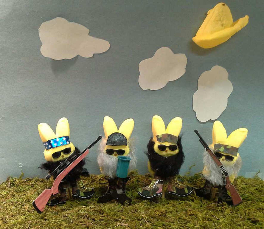 ". ""Peeps Dynasty,\"" by Liz, Maddie, Drew, Matt and Ryan Mulcahy"