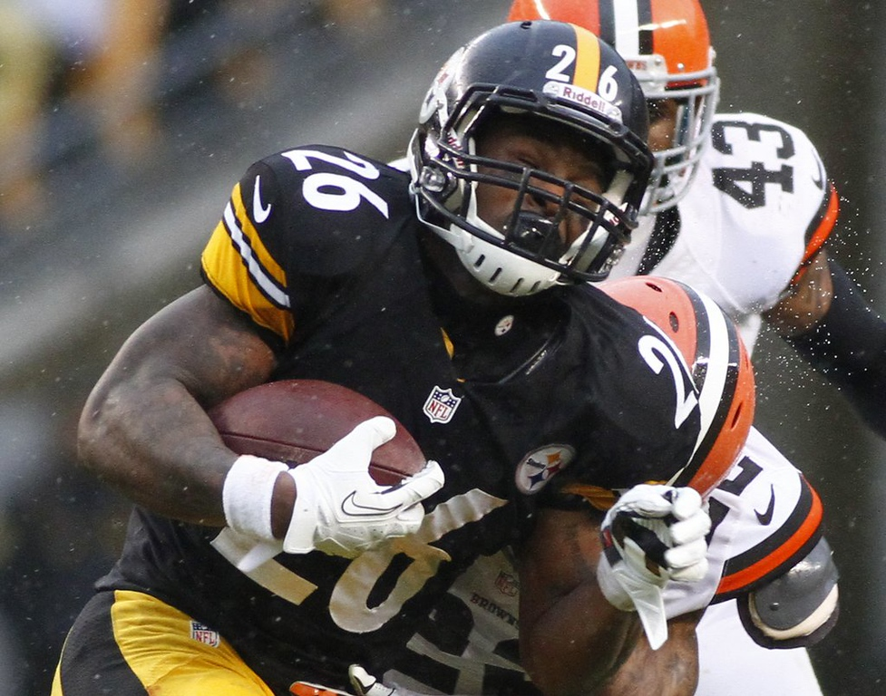 ". 7. (tie) PITTSBURGH STEELERS <p>Not one, but TWO top running backs going to pot. Literally. (unranked) </p><p><b><a href=""http://www.tmz.com/2014/08/20/steelers-stars-legaratte-blount-and-leveon-bell-busted-for-pot-after-traffic-stop/\"" target=\""_blank\""> LINK </a></b> </p><p>    (Justin K. Aller/Getty Images)</p>"
