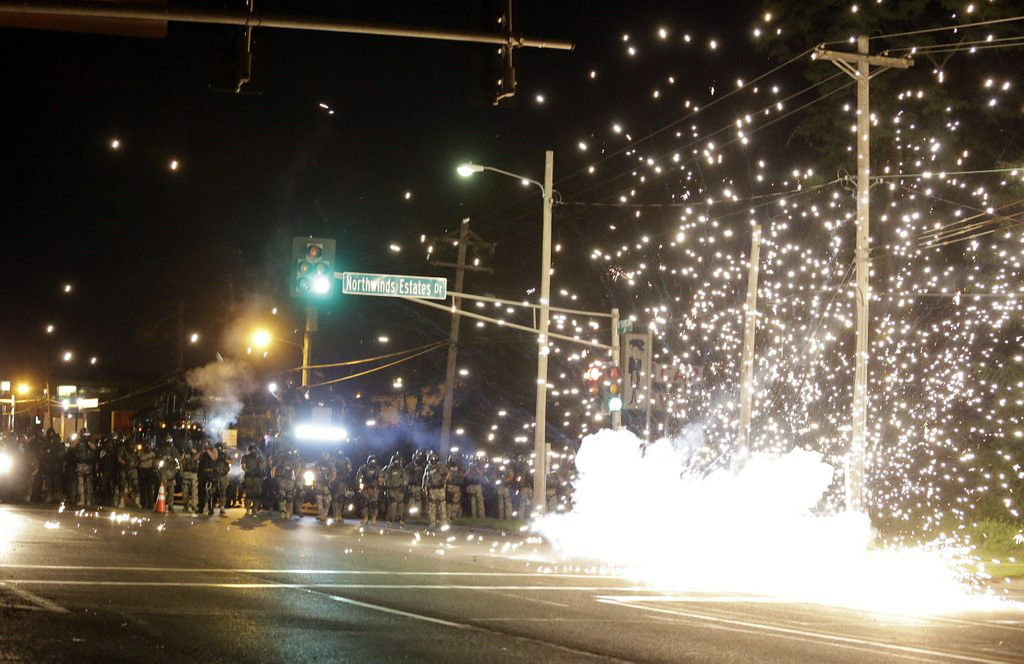 ". 1. FERGUSON (MO.) POLICE <p>Apparently got a really cheap deal on surplus tear gas. (5) </p><p><b><a href=""http://www.twincities.com/breakingnews/ci_26332971/police-use-tear-gas-ferguson-protesters\"" target=\""_blank\""> LINK </a></b> </p><p>   (AP Photo/Jeff Roberson)</p>"