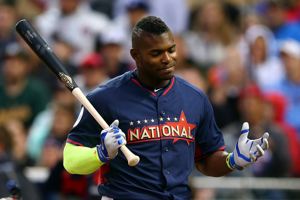 ". 1. YASIEL PUIG <p>When you show up at a home run derby with a mohawk, you better hit at least one homer. Otherwise, you look like a jackass. (unranked) </p><p><b><a href=""http://www.latimes.com/sports/sportsnow/la-sp-sn-home-run-derby-updates-20140714-story.html\"" target=\""_blank\""> LINK </a></b> </p><p>   (Elsa/Getty Images)</p>"
