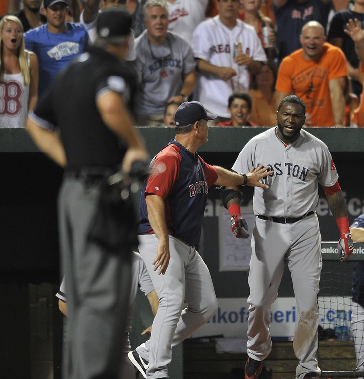 ". <p><b><a href=\'http://ftw.usatoday.com/2013/07/david-ortiz-obliterated-a-dugout-phone-with-his-bat/\' target=""_blank\""> 7. David Ortiz </a></b> <p>�Can you hear me now?� Big Papi asks the umpire after demolishing dugout phone. (unranked) <p> --------------------------------------------  (AP Photo/Gail Burton)"