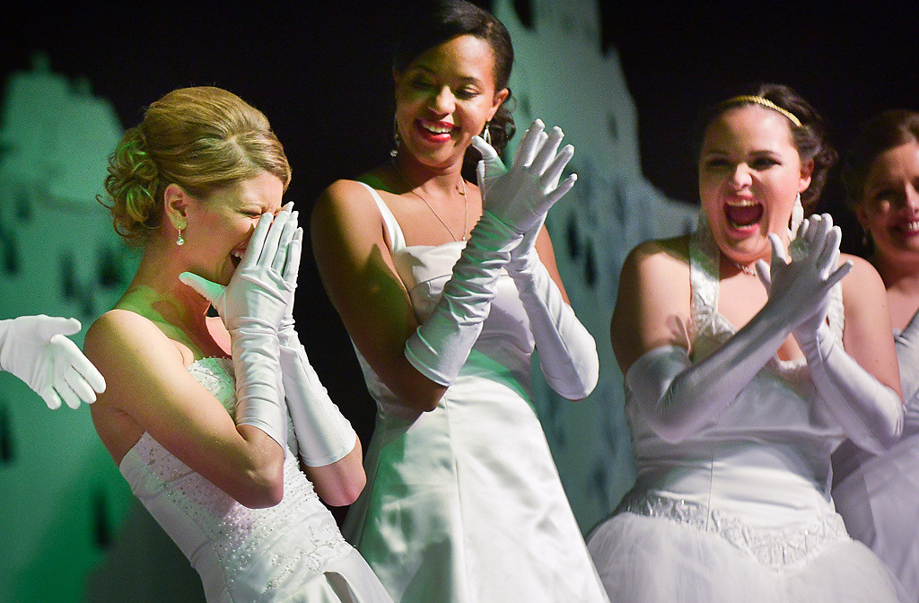 . Abby Massee of Savage reacts after being named the 2014 West Wind Princess. (Pioneer Press: Ben Garvin)