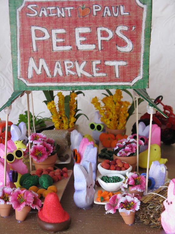 """. \""""St. Paul Peeps\' Market,\"""" by Michelle Olson"""