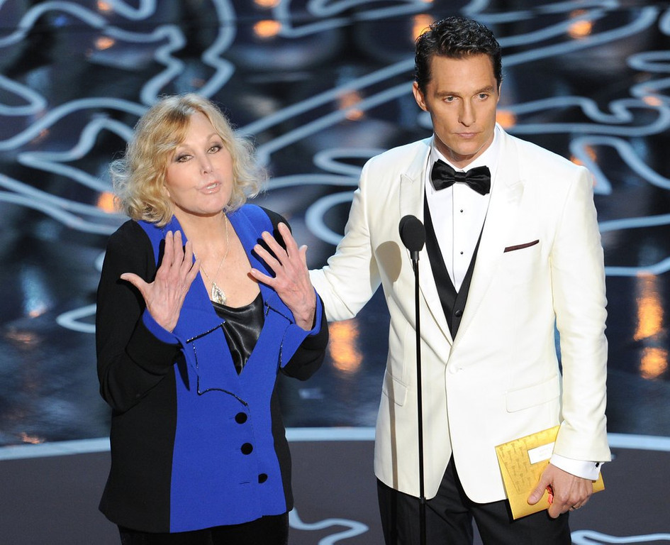 ". <p>10. (tie) KIM NOVAK <p>Looking for more face time after Oscars appearance. (6) <p><b><a href=\'http://www.foxnews.com/entertainment/2014/03/03/kim-novak-trying-too-hard-to-stay-young/\' target=""_blank\""> HUH?</a></b> <p>    (Kevin Winter/Getty Images)"