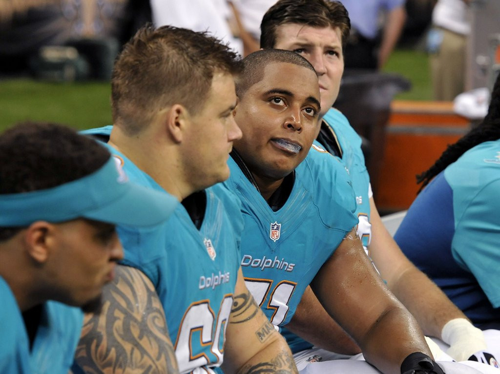 """. <p>22. RICHIE INCOGNITO & JONATHAN MARTIN <p>We forget ... which one is the wimp, and which one is the loudmouth piece of excrement? <p><b><a href=\'http://espn.go.com/nfl/story/_/id/9941696/jonathan-martin-walked-twisted-world-led-incognito\' target=\""""_blank\""""> HUH?</a></b> <p>    (AP Photo/Bill Feig, File)"""