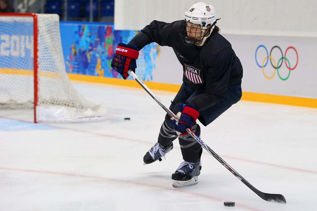 . Former Minnesota player and St. Cloud native Anne Schleper is a teammate with Marvin on the Boston Blades. Schleper, Kessel and Megan Bozek won back-to-back national championships at Minnesota in 2012 and �13.  (Getty Images: Bruce Bennett)