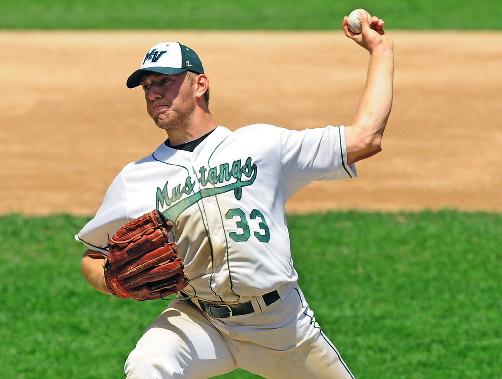 . Mounds View starter Max Knutson gave up one run and struck out six batters in his complete-game quarterfinal victory over Forest Lake.  (Pioneer Press: Scott Takushi)