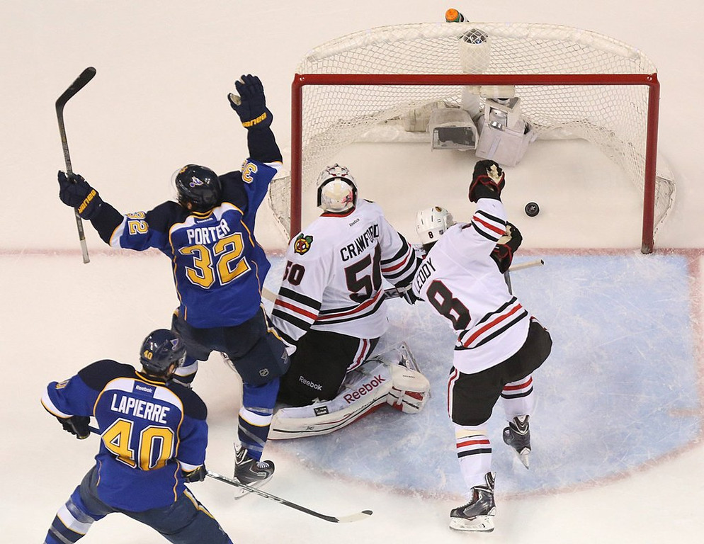 """. <p>7. CHICAGO BLACKHAWKS <p>It�s awfully hard to repeat. And they won�t. (unranked) <p><b><a href=\'http://www.twincities.com/wild/ci_25600337/blues-beat-blackhawks-4-3-ot-take-2\' target=\""""_blank\""""> HUH?</a></b> <p>   (Chris Lee/St. Louis Post-Dispatch/MCT)"""