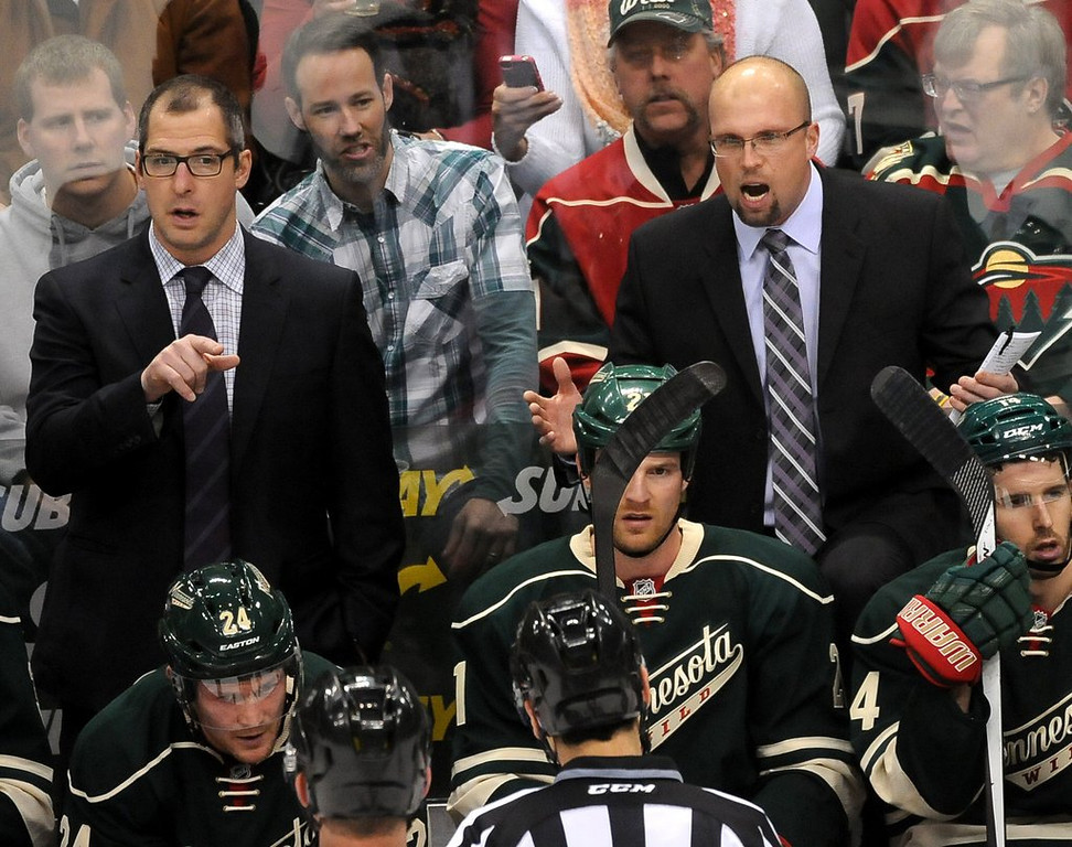 """. <p><b> As the NHL season heads into the final four weeks, it�s looking increasingly likely that the Minnesota Wild will have to � </b> <p> A. Finish strong in order to make the playoffs <p> B. Give up on making the playoffs this season <p> C. Get a new coach for next season <p><b><a href=\'http://www.twincities.com/wild/ci_25363562/wild-out-their-depth-loss-bruins?source=rss\' target=\""""_blank\"""">HUH?</a></b> <p>     (Pioneer Press: Sherri LaRose-Chiglo)"""