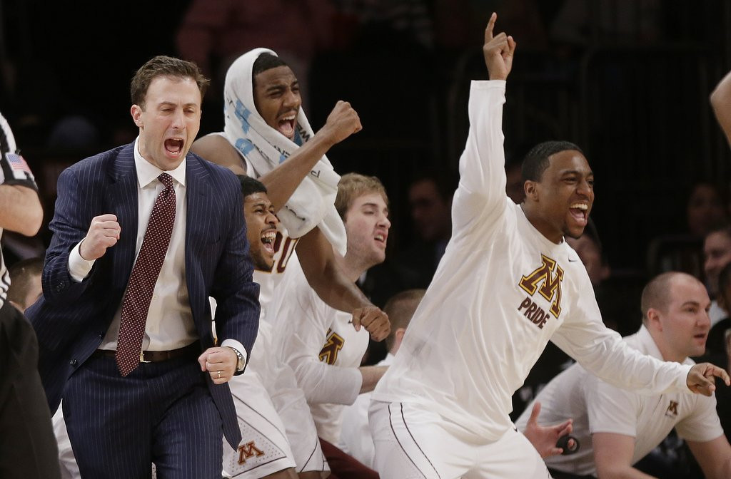 """. <p>2. MINNESOTA GOPHERS <p>One more victory, then they can proudly proclaim, �We�re No. 69!� (unranked) <p><b><a href=\'http://www.twincities.com/sports/ci_25473262/gophers-reach-nit-championship-game-67-64-ot\' target=\""""_blank\""""> HUH?</a></b> <p>    (AP Photo/Frank Franklin II)"""