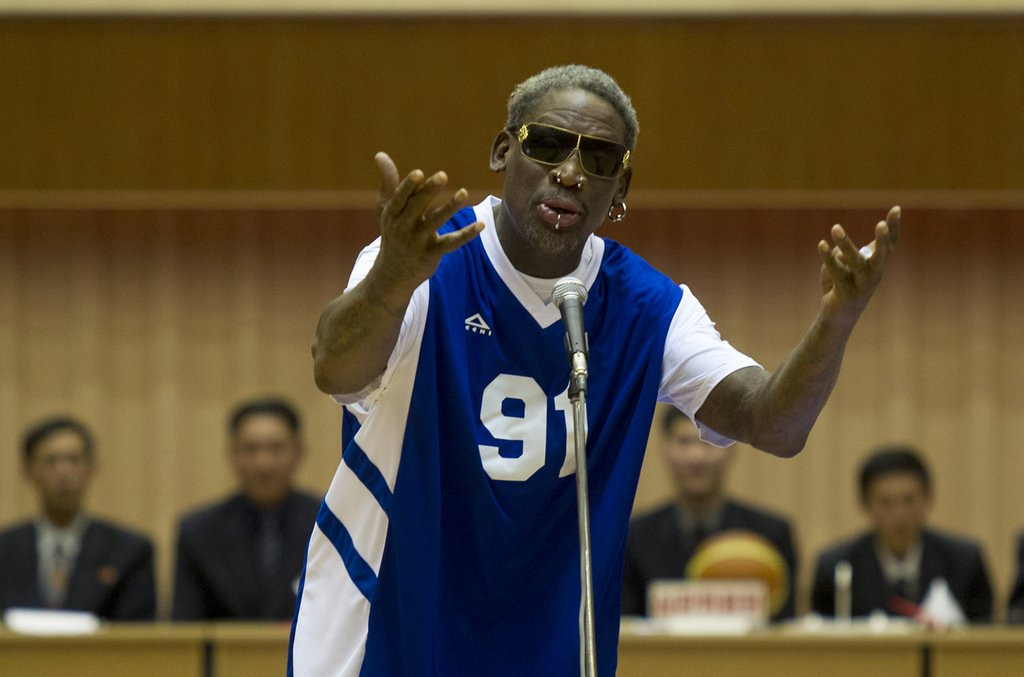 ". <p>4. DENNIS RODMAN <p>Candidly blames his North Korea ranting on alcohol ... then resumes drinking. (6) <p><b><a href=\'http://www.twincities.com/sports/ci_24876132/dennis-rodman-apologizes-blames-drinking-comments-jailed-american\' target=""_blank\""> HUH?</a></b> <p>    (AP Photo/Kim Kwang Hyon)"