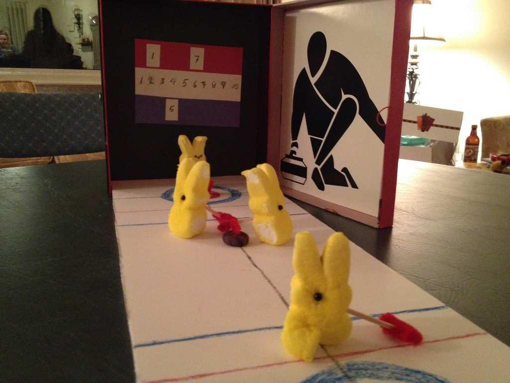 ". ""St. Paul Curling Peeps,\"" by Tina Lahti"