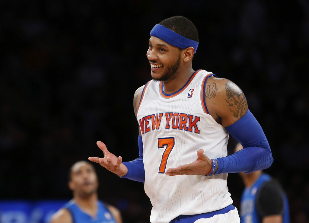 ". 7. CARMELO ANTHONY <p>He�s no LeBron, which is why he�s stuck being a Knick. (unranked) </p><p><b><a href=""http://www.nydailynews.com/sports/basketball/knicks/carmelo-anthony-knicks-working-final-details-new-deal-article-1.1864375\"" target=\""_blank\""> LINK </a></b> </p><p>   (AP Photo/Jason DeCrow, File)</p>"