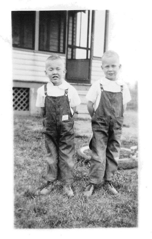 ". Writes MR. BONES of Mendota Heights: ""This photo was taken only 80 years ago, at the height of the Great Depression. I am the kid on the right. The lad on the left was my kid brother, my dearest brother, my best friend and my constant companion while growing up. He succumbed to leukemia two weeks prior to his high school graduation. I was stationed in England at the time, during World War II.