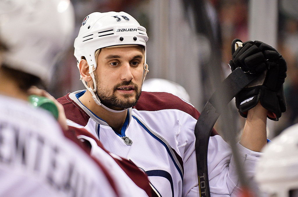 . Colorado Avalanche left wing Patrick Bordeleau on the bench during the third period. (Pioneer Press: Ben Garvin)