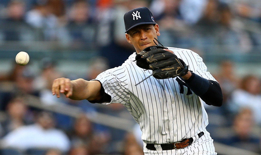 . Alex Rodriguez, third baseman, New York Yankees -- Rodriguez was suspended through the end of the 2014 season while 12 other players accepted 50-game penalties from Major League Baseball on Monday as part of its Biogenesis drug investigation.  (Photo by Elsa/Getty Images)