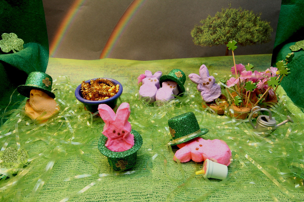 """. \""""Saint Patrick\'s PEEPS,\"""" by Margie Born, Inver Grove Heights"""