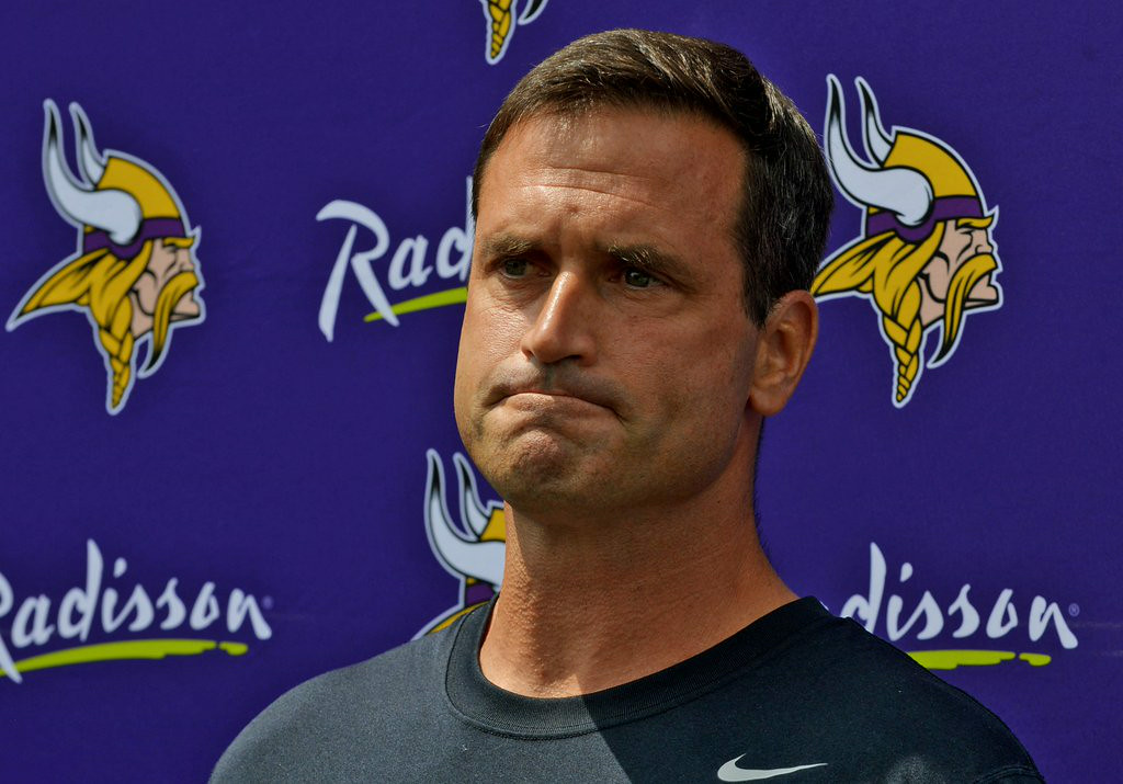 ". 3. (tie) MIKE PRIEFER <p>Might be finished apologizing for his nuke comment by the end of the decade. (unranked) </p><p><b><a href=""http://www.twincities.com/vikings/ci_26209882/vikings-mike-priefer-ive-failed\"" target=\""_blank\""> LINK </a></b> </p><p>    (Pioneer Press: John Autey)</p>"