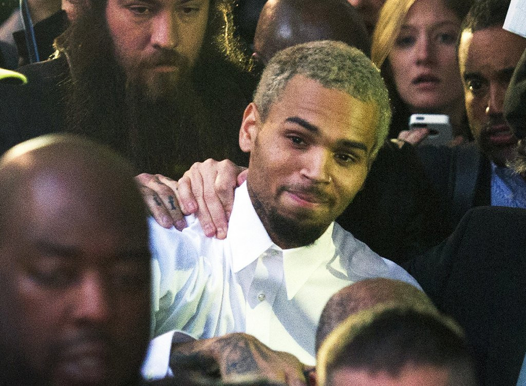 """. <p>17. CHRIS BROWN <p>In a sign of growth, no longer limits his assault and battery to women. <p><b><a href=\'http://www.tmz.com/2013/10/27/chris-brown-arrested-felony-assault-washington-dc/\' target=\""""_blank\""""> HUH?</a></b> <p>    (AP Photo/Cliff Owen, File)"""