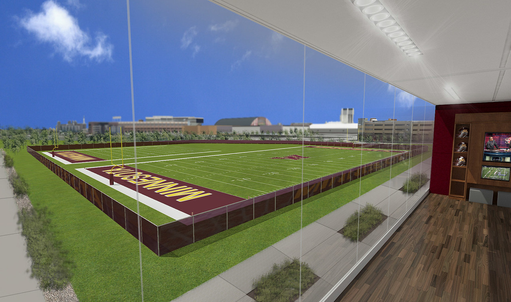 . Two outdoor football practice fields were part of the strategic plan unveiled by the University of Minnesota on Wednesday. (Courtesy of the University of Minnesota)