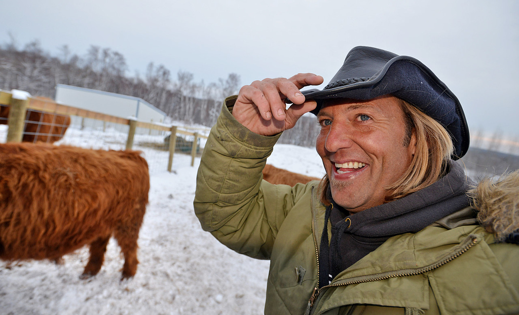 """. \""""They\'re docile as dogs,\"""" said facilities manager Rob Strom, describing his herd of six Scottish Highland steers at his 80-acre farm in Twig, just west of Duluth, on Wednesday December 12, 2012. Strom is part of a group based at Fitger\'s Brewhouse in Duluth who will feed the herd spent grain from the brewing process, breed them and use the meat in their restaurant.  (Pioneer Press: Richard Marshall)"""