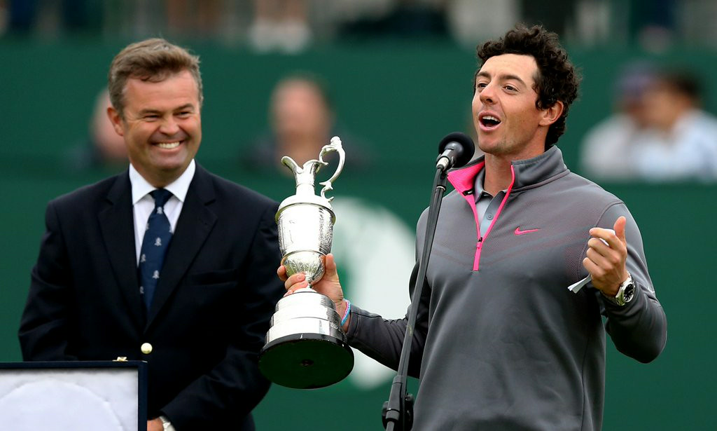 """. <p><b> Rory McIlroy, arguably the world�s top golfer, did this on Sunday for the third time � </b> </p><p> A. Won a major </p><p> B. Set a course record at the British Open </p><p> C. Dumped Caroline Wozniacki </p><p><b><a href=\""""http://www.twincities.com/sports/ci_26183631/mcilroy-poised-move-closer-career-grand-slam\"""" target=\""""_blank\"""">LINK</a></b> </p><p>   (AP Photo/Scott Heppell)</p>"""