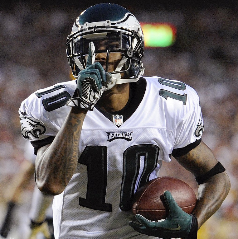 """. <p>5. DESEAN JACKSON <p>Not a gang banger. Just an overpaid malcontent, like most big-time wide receivers. (1) <p><b><a href=\'http://www.washingtonpost.com/blogs/early-lead/wp/2014/03/29/desean-jackson-not-involved-in-gang-violence-lapd-says/\' target=\""""_blank\""""> HUH?</a></b> <p>    (AP Photo/Nick Wass)"""
