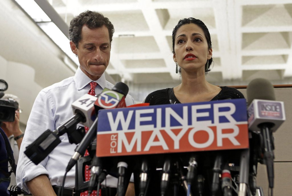 ". <p><b><a href=\'http://www.dailymail.co.uk/news/article-2377515/Anthony-Weiners-wife-Huma-Abedin-faces-backlash-standing-man.html\' target=""_blank\""> 7. Huma Abedin </a></b> <p>Should probably cash in by selling her own signature line of designer doormats. (3) <p> --------------------------------------------   (AP Photo/Kathy Willens)"