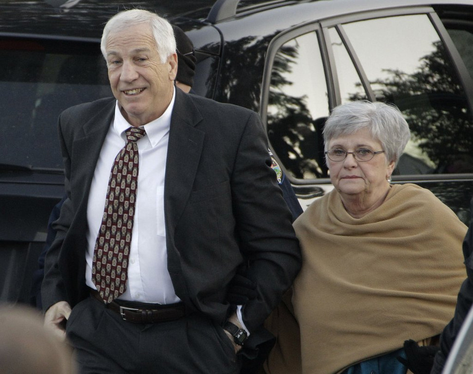 """. <p>10. (tie) DOTTIE SANDUSKY <p>Looking to get her picture into the next Webster�s Dictionary, right next to the word �enabler.� (2) <p><b><a href=\' http://www.twincities.com/sports/ci_25325977/milwaukee-brewers-ex-twin-carlos-gomez-looks-build\' target=\""""_blank\""""> HUH?</a></b> <p>    (AP Photo/Gene J. Puskar, File)"""