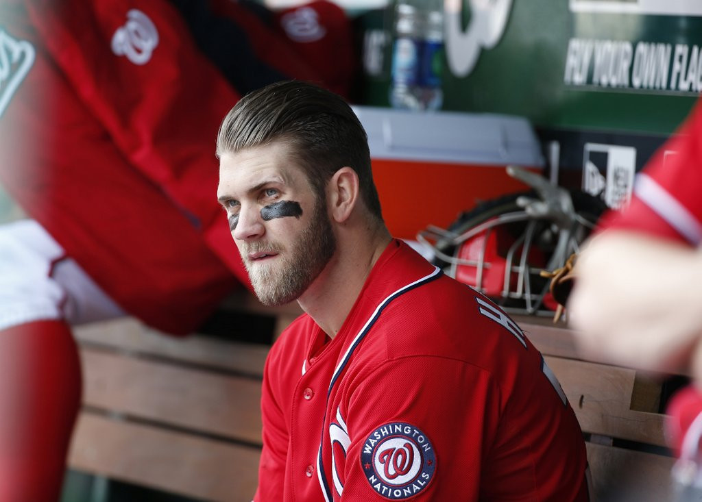 """. <p>9.  BRYCE HARPER  <p>Nats star benched after doing one of his keenest Yasiel Puig impersonations ever. (unranked) <p><b><a href=\'http://www.cbssports.com/mlb/eye-on-baseball/24532868/bryce-harper-benched-for-lack-of-hustle-despite-quad-injury\' target=\""""_blank\""""> HUH?</a></b> <p>   (AP Photo/Alex Brandon)"""