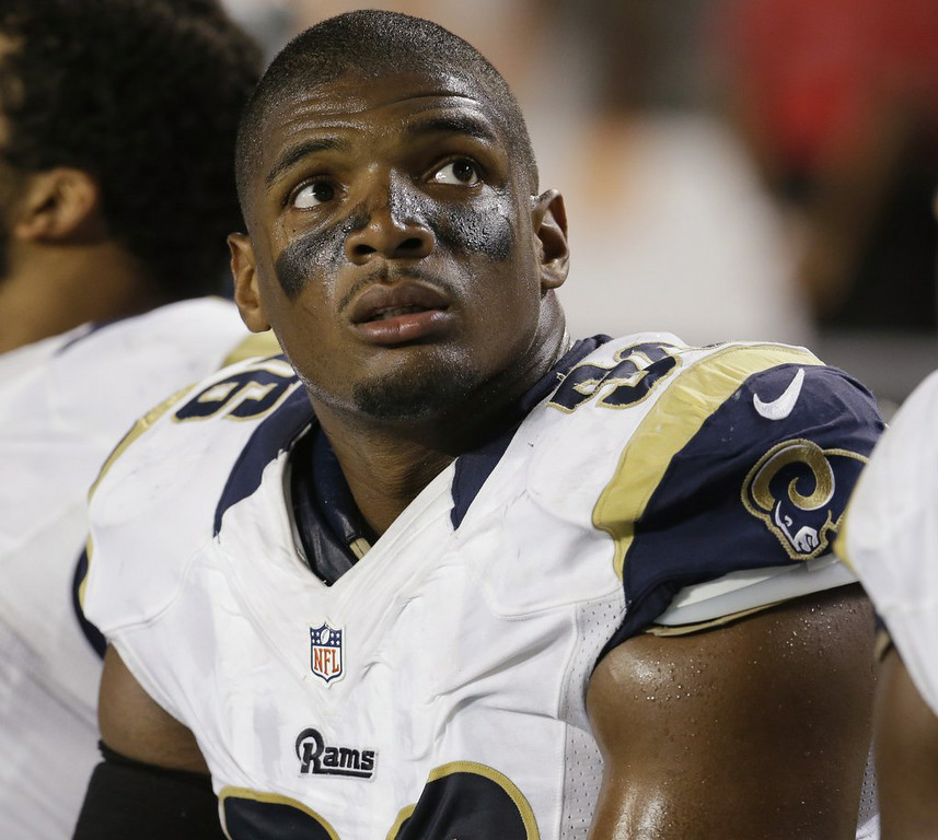". 3. (tie) MICHAEL SAM <p>By now, probably used to getting passed over by 31 NFL teams. (unranked) </p><p><b><a href=""http://www.twincities.com/breakingnews/ci_26443686/sam-clears-waivers-meets-fisher\"" target=\""_blank\""> LINK </a></b> </p><p>    (AP Photo/Lynne Sladky)</p>"