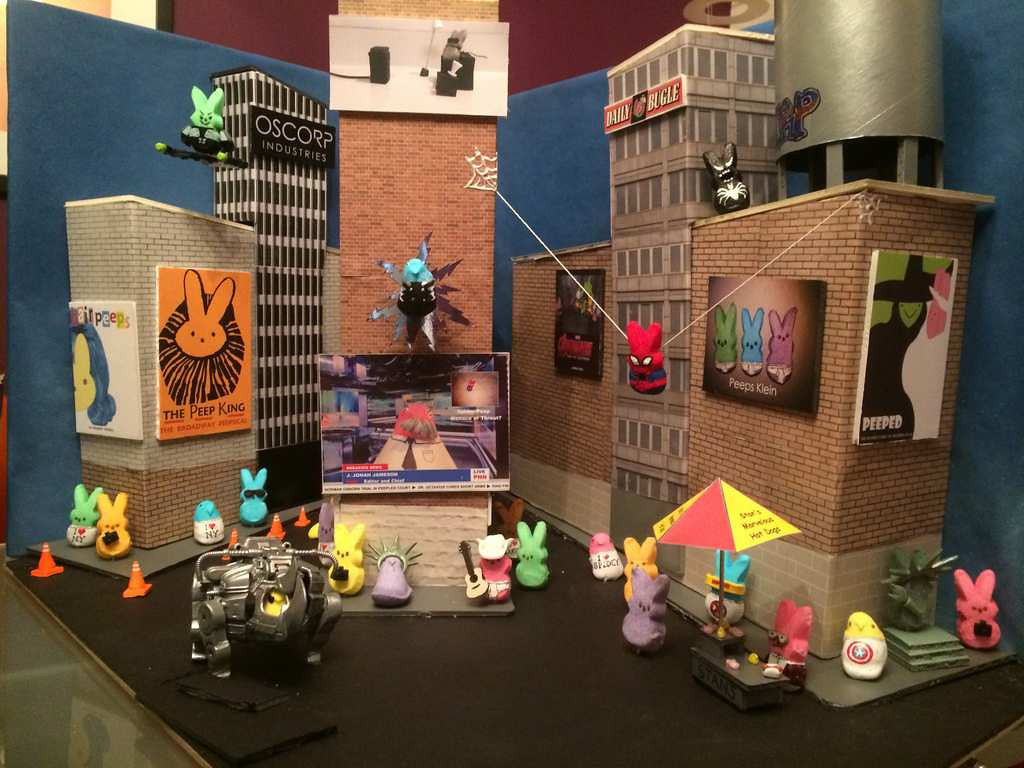 ". THIRD PLACE: ""The Amazing Spider-Peep,\"" by Michael Sharp of Germantown, Md."